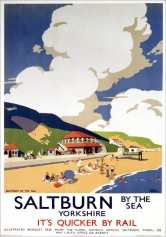 London & North Eastern Railway (LNER) poster promoting rail travel to Saltburn, Cleveland, Yorkshire. 1923-1947. Artwork by Frank Newbould.