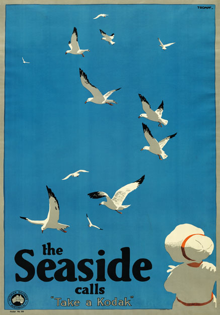 The Seaside Calls, Melbourne, Australia. Vintage Travel Poster b