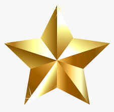 Gold Star Clip Art - Golden Transparent Background Star, HD Png Download -  kindpng